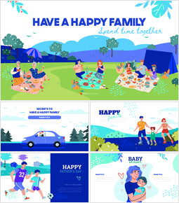 Have a Happy Family best presentation template_50 slides