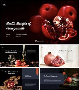 Health Benefits of Pomegranate Multipurpose Keynote Template_40 slides