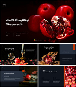 Health Benefits of Pomegranate PowerPoint to Google Slides_40 slides