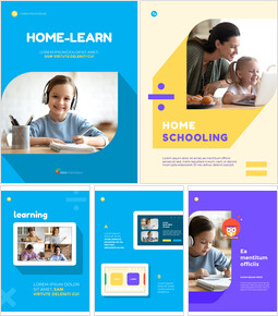 Home Learning System Template Design Marketing Presentation PPT_00