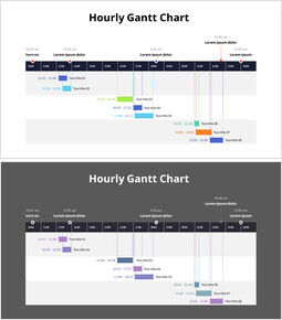 Hourly Gantt Chart_2 slides