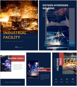 Industrial Facility Simple PowerPoint Template Design_25 slides