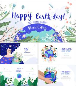 Giornata internazionale della terra Modelli di presentazione Design_50 slides