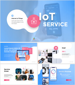 Internet of Things IoT Service Pitch Deck Animation Templates_13 slides