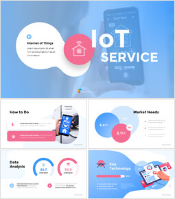 Internet of Things IoT Service Pitch Deck pitch presentation template_13 slides