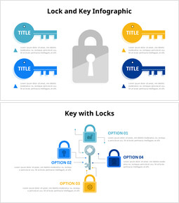 Key and Lock Infographics Diagram_4 slides