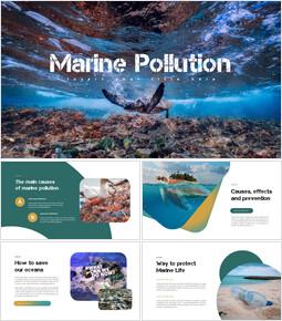 Inquinamento marino Startup PPT Modelli_35 slides