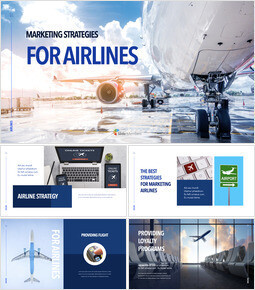 Marketing Strategies for Airlines company profile template design_50 slides