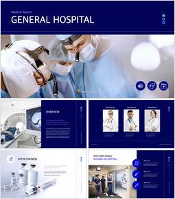 Medical Report - General Hospital keynote presentation templates free_00