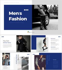 メンズファッション ビジネス事業のテンプレートPPT_37 slides