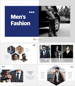 メンズファッション キーノートのテンプレート_37 slides