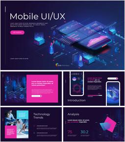 Mobile UI/UX PowerPoint-Präsentationsvorlagen_13 slides