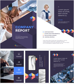 Modern Company Report powerpoint design free_26 slides
