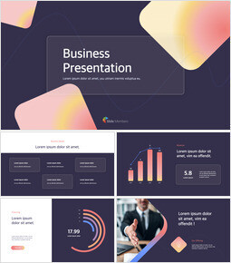 Modern Neon Glass Background Business Keynote for PC_13 slides