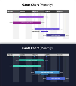 Monthly Gantt Chart_2 slides