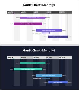 月次ガントチャート_2 slides