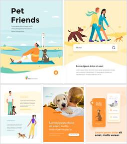 I miei amici animali domestici tema illustrazione verticale Presentazioni di PowerPoint_26 slides