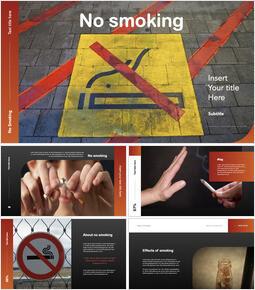 喫煙禁止 会社プロフィールpptテンプレート_35 slides