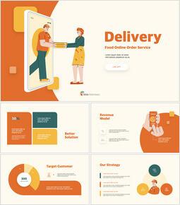 Online Delivery Service Pitch Deck keynote template download_13 slides