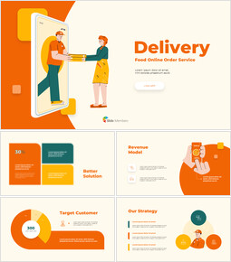 Online Delivery Service Pitch Deck startup presentation template_13 slides
