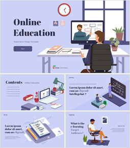 Online Education Simple PPT Templates_50 slides