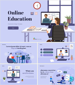 Online Education template google slides_50 slides