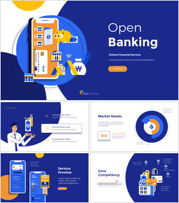 Open Banking Service Pitch Deck Template Easy Presentation Template_00