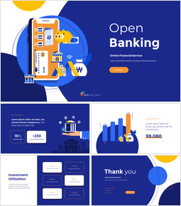 Open Banking Service Pitch Deck Template startup presentation template_13 slides
