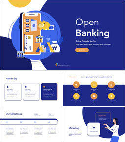 Open Banking Service Pitch Deck Template team presentation template_00