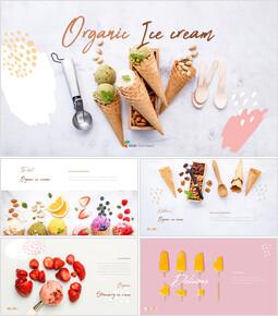 有機アイスクリーム PPTプレゼンテーションのサンプル_35 slides