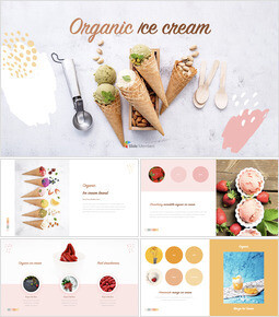 Organic Ice Cream template keynote_35 slides