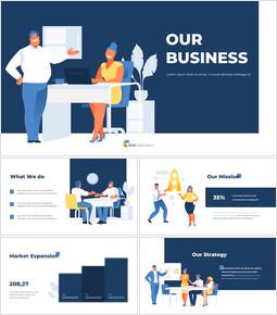 私たちのビジネスプレゼンテーションデザインPPTアニメーションプレゼンテーション パワーポイントのアニメーション_00