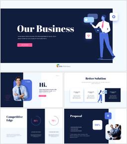 私たちのビジネス提案アニメーションスライド_13 slides