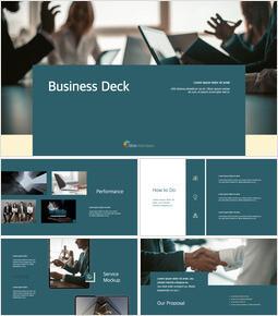 Pitch Deck for Business team presentation template_13 slides