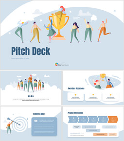 Pitch Deck Presentation Animated Slides in PowerPoint powerpoint animation_13 slides