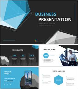 ポリゴンの背景ビジネスパワーポイントのプレゼンテーションビデオ_13 slides