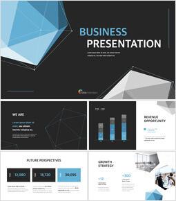Presentazione aziendale di sfondo poligono Temi del keynote_00