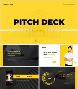 Presentazione dell\'animazione del layout del pitch deck professionale_00