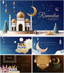 Ramadan Kareem keynote presentation templates free_50 slides