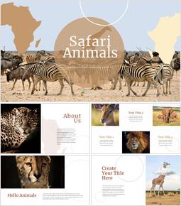Safari Animals Google Presentation Templates_40 slides