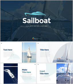 Sailboat team presentation template_35 slides