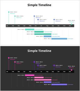 Einfache Zeitleiste_2 slides