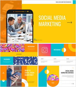 Social media marketing Modelli di presentazione dei diapositivi di Google_40 slides