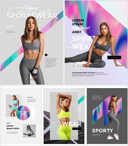 Lookbook für Sportbekleidung Powerpoint ppt_23 slides