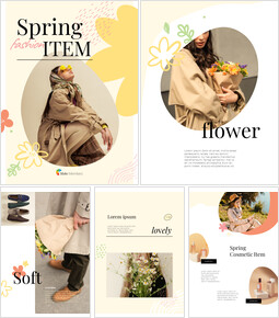 Spring Fashion Item Look Book Design Template Theme Presentation Templates_26 slides