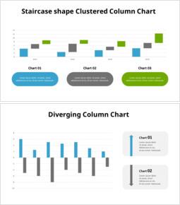 階段形状のクラスター化された縦棒グラフ_12 slides