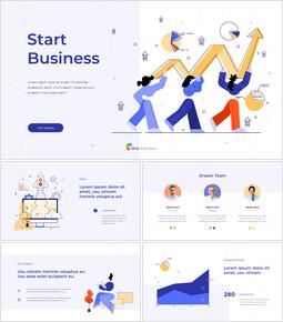 Start Business Plan Presentation Animated Slides in PowerPoint_13 slides