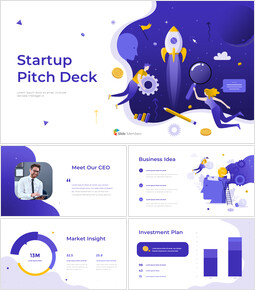 Startup Pitch Deck Template Design Animated Slides in PowerPoint_13 slides