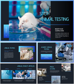 Stop Animal Testing Theme PPT Templates_40 slides