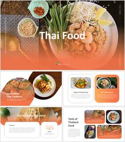 Cibo thailandese Modelli PowerPoint_35 slides